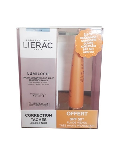 Lierac LIERAC Lumilogie Day & Night Dark Spot Correction Double Concentrate 30 ml ALANA SPF50+ Güneş Koruma HEDİYE Renksiz